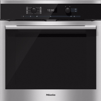 MIELE H6360BP ContourLine | CleanSteel Single Built In Electric Oven
